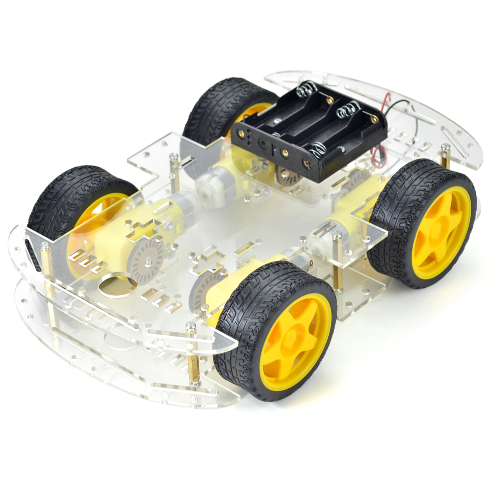 Kit motor smart robot wd car arduino hc sr driver