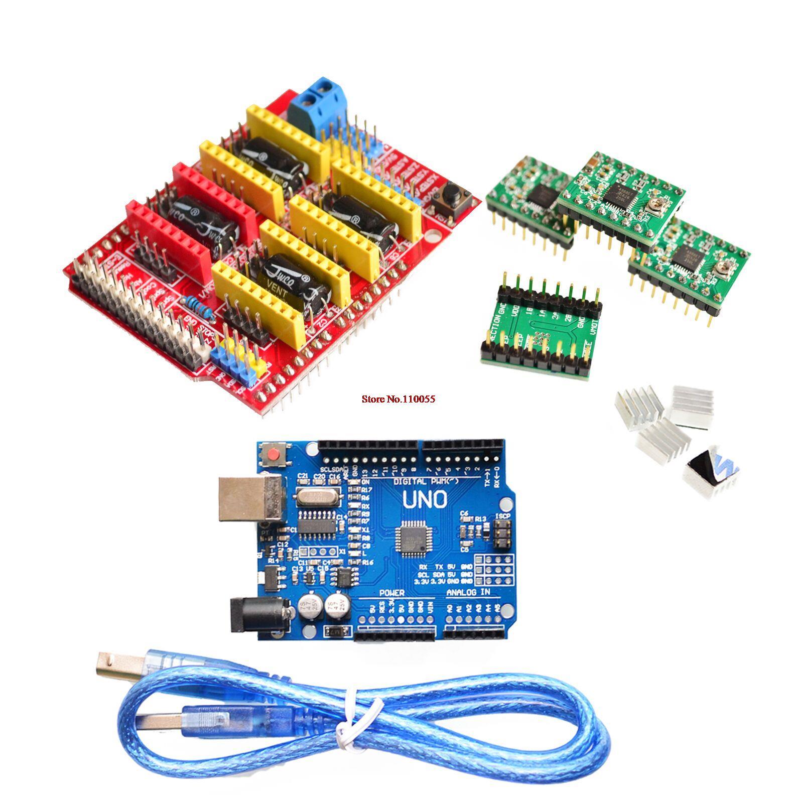 Arduino uno r cnc shield v pcs a pololu