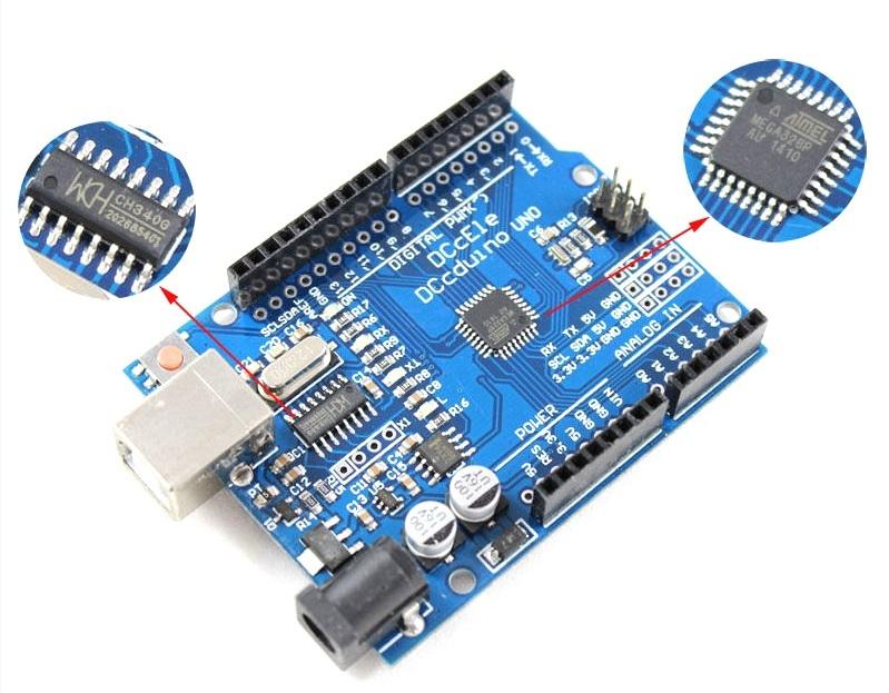 Arduino uno r atmega p ch modelo mejorado usb